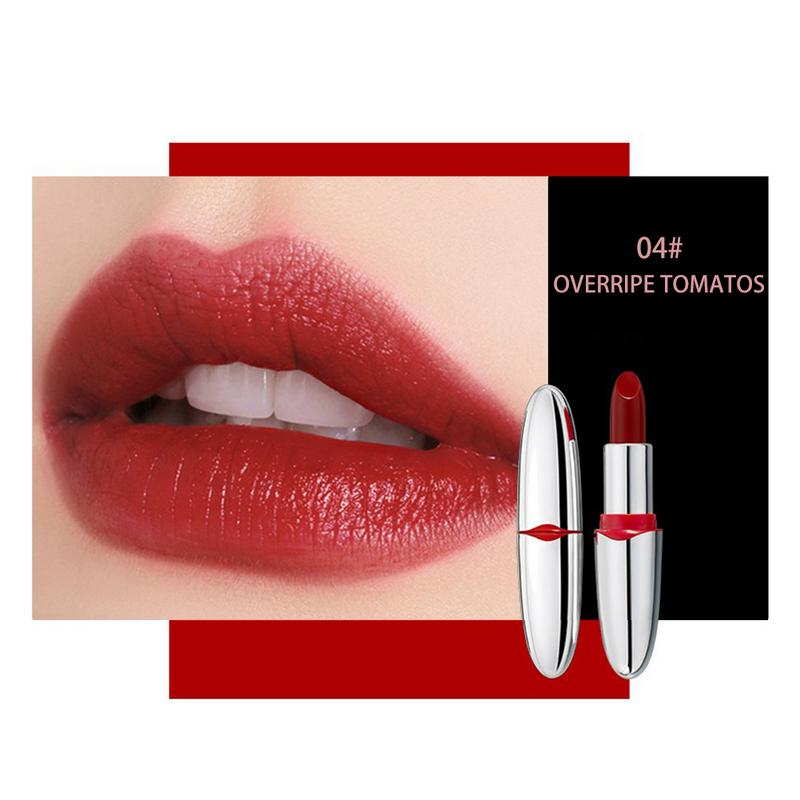 2018 Hot Brand Professional Lips Makeup Matte Moisturizing Lip Gloss Waterproof Long Lasting Pigment Nude Pink Lipstick Cosmetic 6