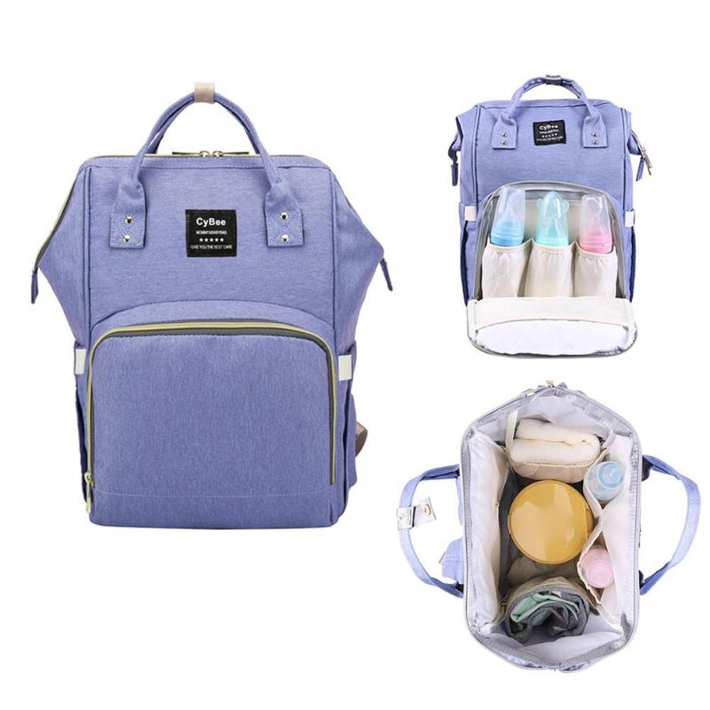 Fashion Waterproof Durable Baby Nappy Nursing Bags Brand High-Capacity Cosmetic Mummy Bag Mom Travel Backpack Large Hand Bag