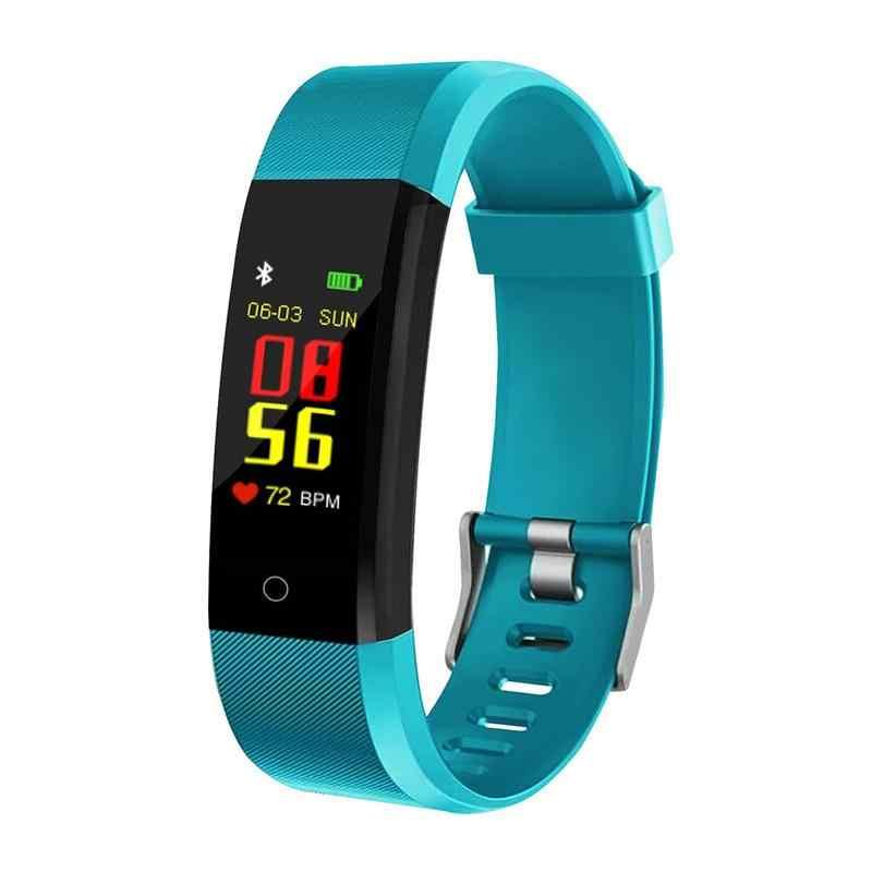 NUOVO 115 Più 0.96 pollici a Colori Dello Schermo di Smart Braccialetto di Sport Intelligente di Pressione Sanguigna Orologio Dinamico Monitoraggio della Frequenza Cardiaca di Conteggio dei passi