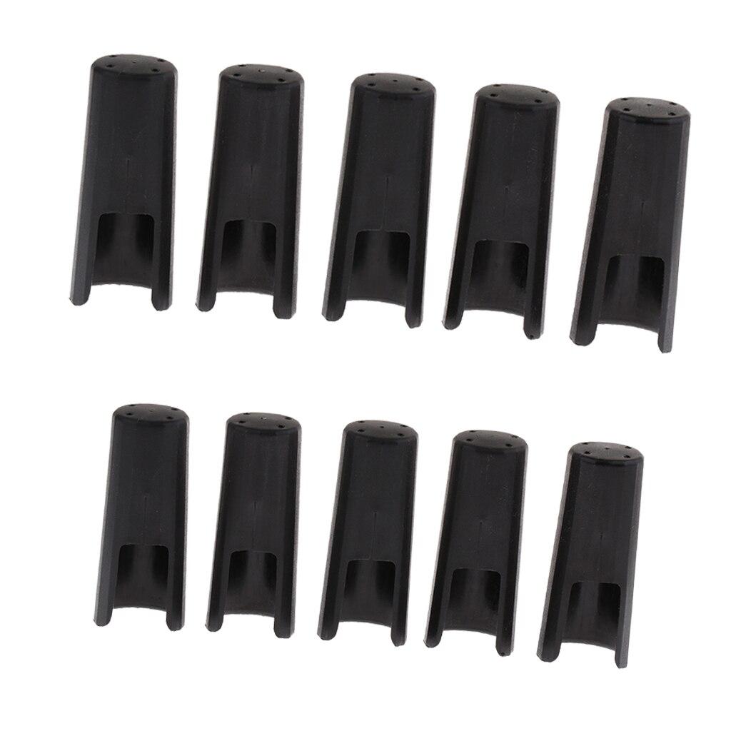 10 Pieces Alto Tenor Saxophone Mouthpiece Protect Cap Cover For Woodwind Instrument Parts