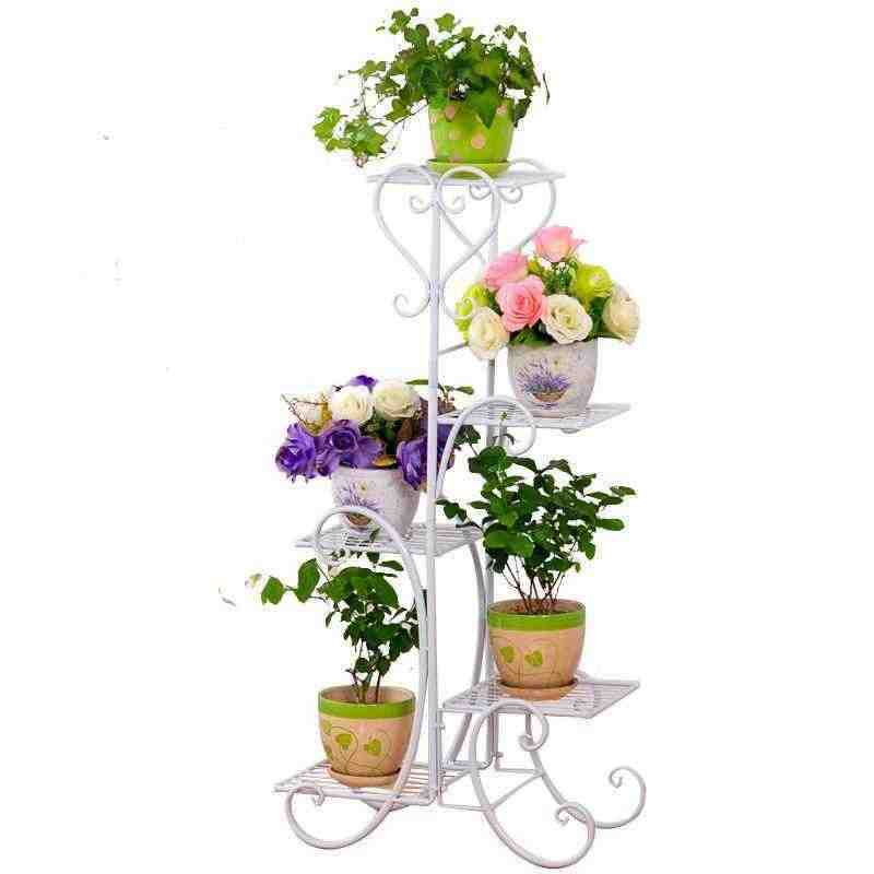 Scaffali Low Cost.Scaffali In Metallo A Ripiani Support Plante Varanda Decoration Exterieur Shelf Plant Stand Balcon Balkon Flower Iron Rack