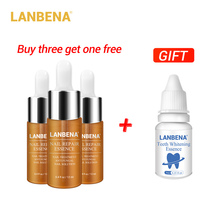 Buy 3 Get 1 Gift Lanbena Nail Repair Essence Serum Fungal Treatment Remove Onychomycosis 3pcs+teeth Whitening