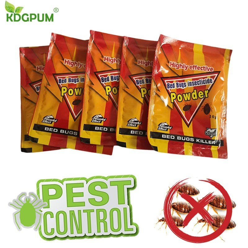 5pcs High Effective Bed Bug Killer Powder Bedbug Drug Bed Bugs Insecticide Killing Fleas Lice Bait Drugs Pest Control For Home