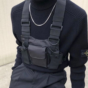 Image 1 - Tactical Vest Nylon military Vest chest rig Pack Pouch Holster Tactical Harness walkie talkie radio Waist Pack for Two Way Radio