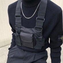 Taktik yelek naylon askeri yelek göğüs rig paketi kılıfı kılıfı taktik demeti walkie telsiz bel paketi için iki yönlü radyo