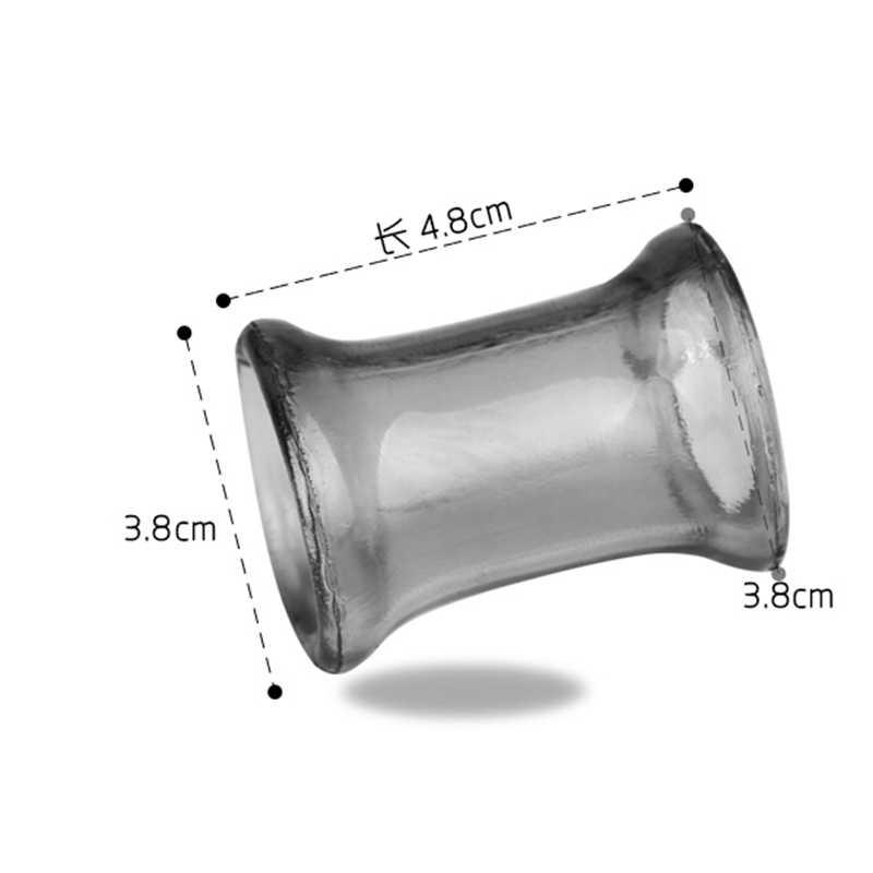 남성 남근 음낭 반지 연약한 가동 가능한 TPE 수탉 반지 사정 지연 투명한 Cockring 성 장난감 남자를위한 성숙한 제품