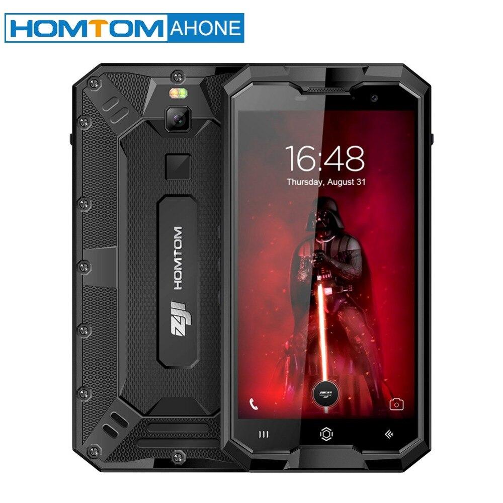 HOMTOM ZOJI Z8 4250 mah 4 gb 64 gb IP68 Tri-prova di 5 Pollici Del Telefono Mobile 1280*720 p di Impronte Digitali 4g Octacore 13 + 16 mp Fotocamera Dello Smartphone