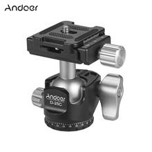 Andoer D 25C ミニボールヘッドアルミ合金三脚ヘッド 1/4 インチ & 3/8 インチねじ眼レフ ILDC カメラ 360 ° 運動