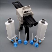 Glue-Gun Caulking-Gun-Dispenser Two-Component Cartridge 1:1-Mixing-Nozzle 50ml Manual