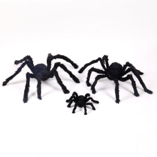 GIANT FURRY TARANTULA SPIDER HALLOWEEN PROP DECORATION PROP POSEABLE FANCY Toy
