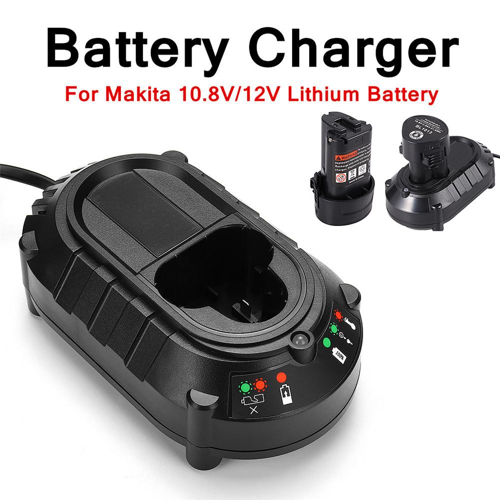 Li-ion Battery Charger For <font><b>Makita</b></font> BL1013 BL1014 10.8V/<font><b>12V</b></font> Replacement Lithium Battery Electrical Screwdriver Tools AU EU UK US image