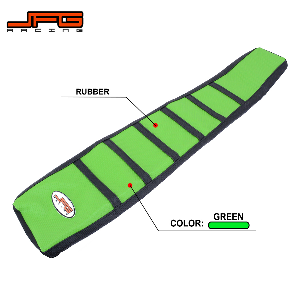 Motorcycle Striped Gripper Soft Seat Cover For KAWASAKI KX65 KX85 KX100 KLX110 KLX250 KLX300 KLX450R KX125 KX250 KX250F KX450F