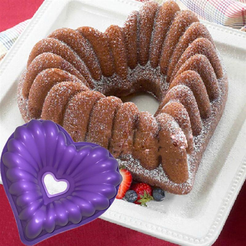 Heart Silicone Non-Stick Cake Tin 1
