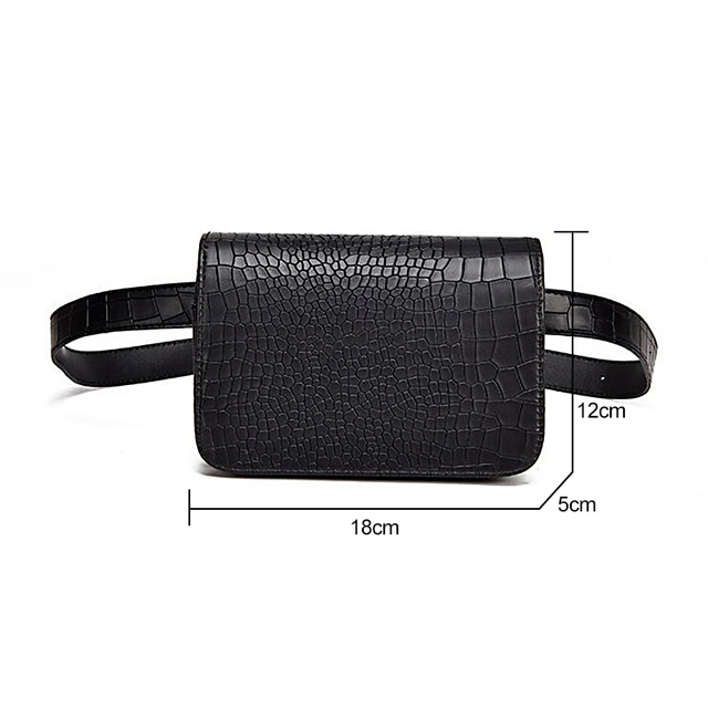 ​Alligator Pattern Belt Bag  5