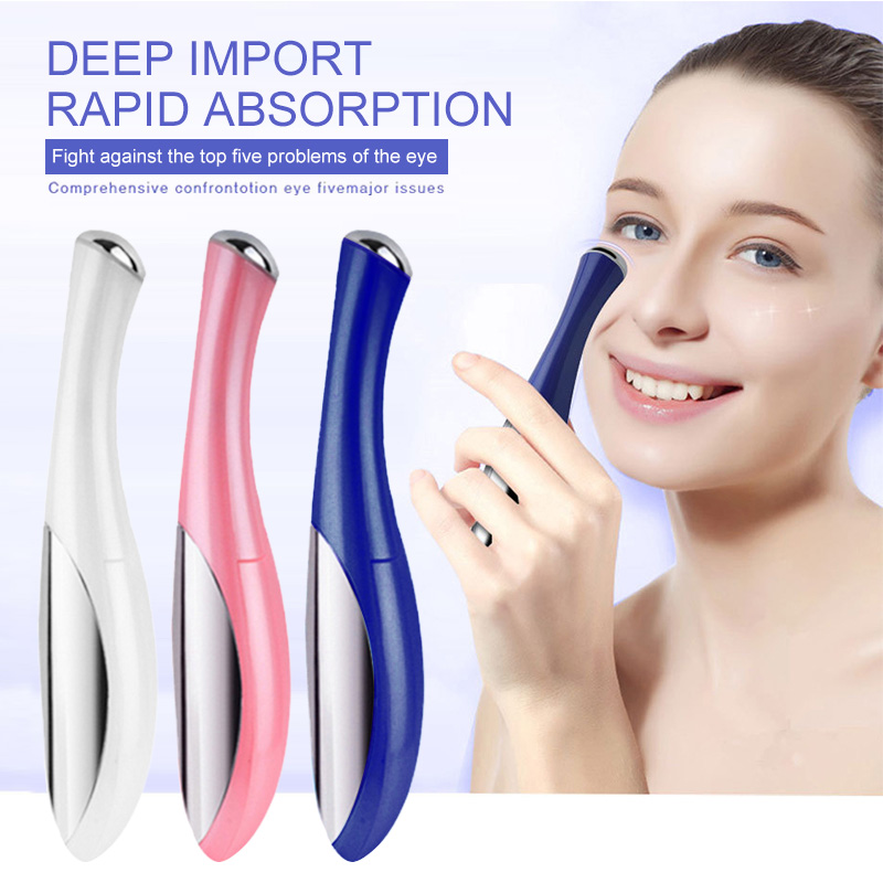 New Electric Vibration Eye Massage Dark Circle Puffiness Removing Skin Rejuvenation Beauty Massage Device Portable Pen Drop Ship