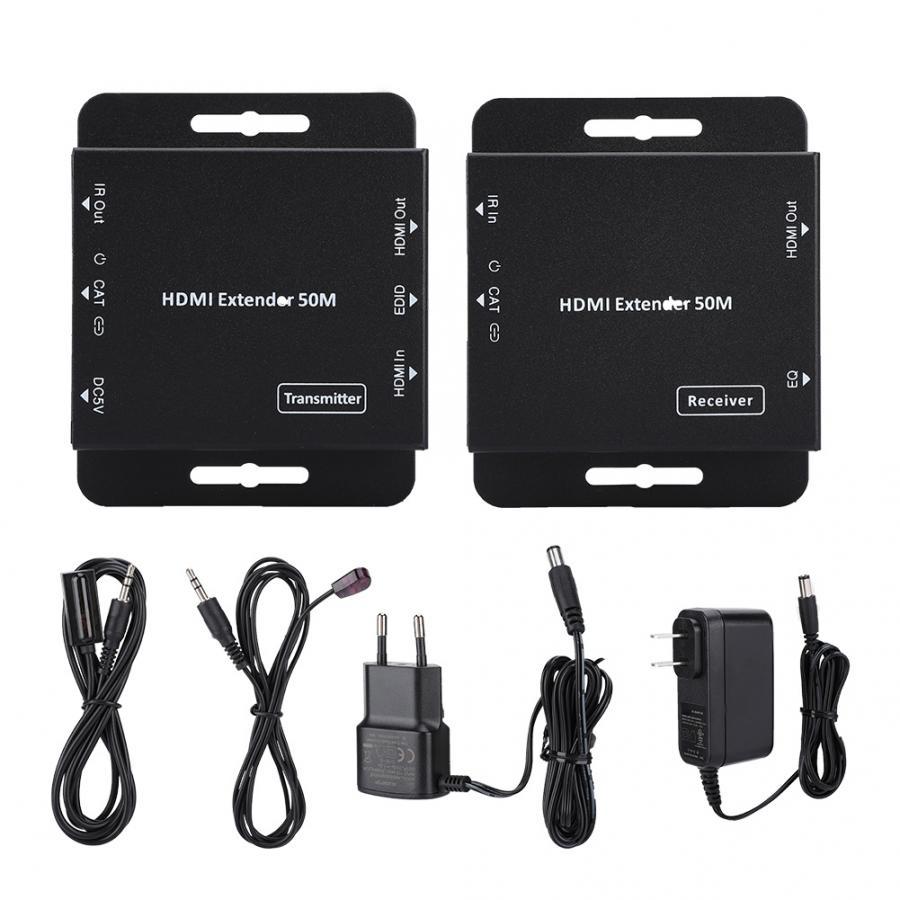 50 M HDMI 1080 P seule ligne réseau Extender émetteur récepteur adaptateur bluetooth émetteur audio