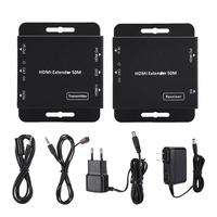 50M HDMI 1080P Single Line Network Extender Transmitter Receiver Adapter bluetooth transmitter audio