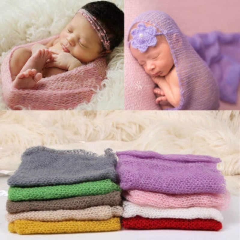 新生児ストレッチ質感ニットレーヨンラップ繭写真プロップ米国