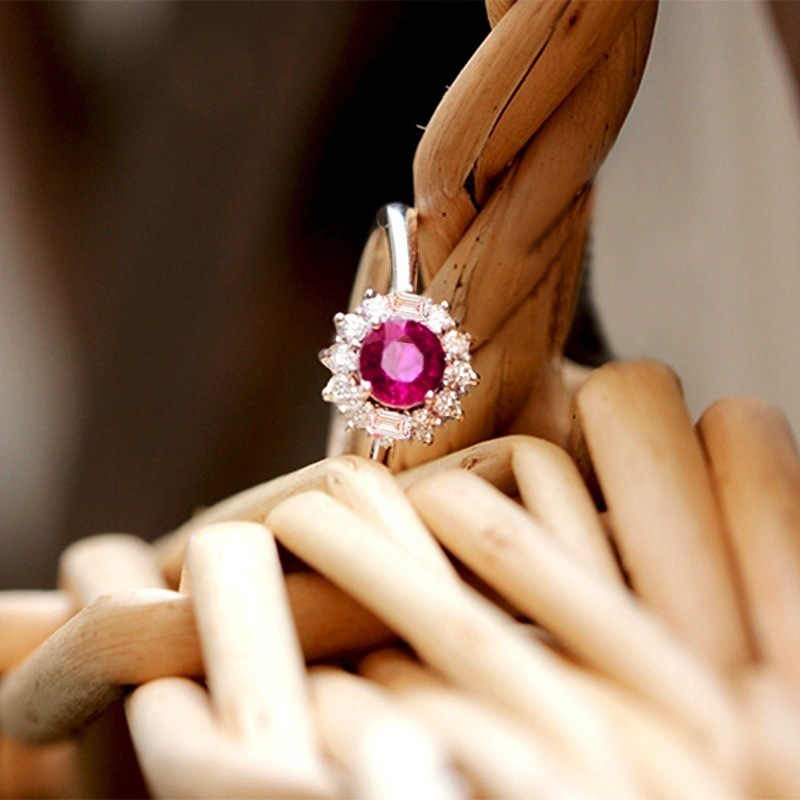 مكتب الأحمر سيدة Anillos دي روبي Amethystring خواتم الماس الفرقة باجي النجم العقيق اليشم الماس النساء anillo مجوهرات bizuterias