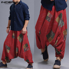 Harajuku Aladdin Pantaloni da Uomo Pantaloni Allentati Pantaloni stile  harem Hiphop Baggy Big Cavallo Jogger Uomini di Danza Ves. 45cb7485ca2f