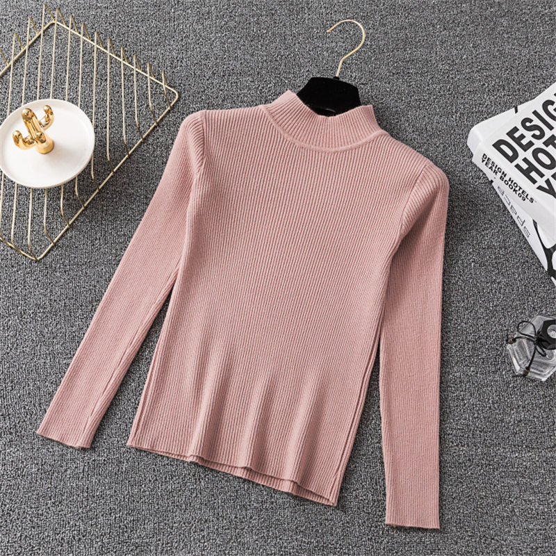 Winter Knitting Sweater Pullovers Women Long Sleeve Tops Turtleneck Knitted Sweater Chic Woman Clothes Female Casual Streetwear #3