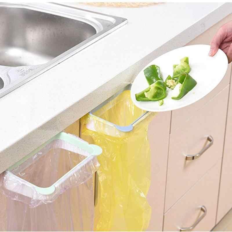 الباندا شكل منشفة كيس النفايات شنقا رف البلاستيك المطبخ كيس النفايات تخزين قوس رف تنظيف الملابس شماعات المنظم