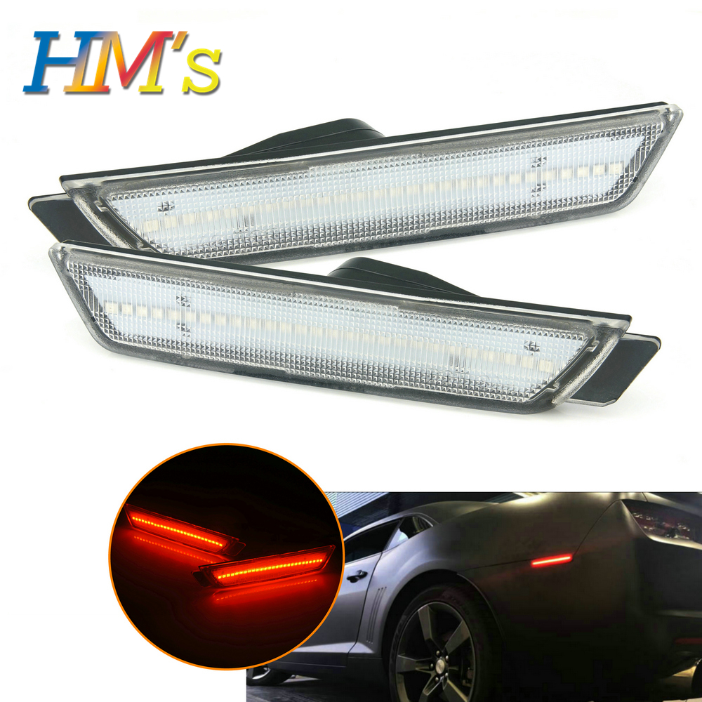 LED Front Rear Side Marker Lamps For Chevy Camaro 2010 2011 2012 2013 2014 2015 Turn Signal SMD LED Light For Camaro Accessories