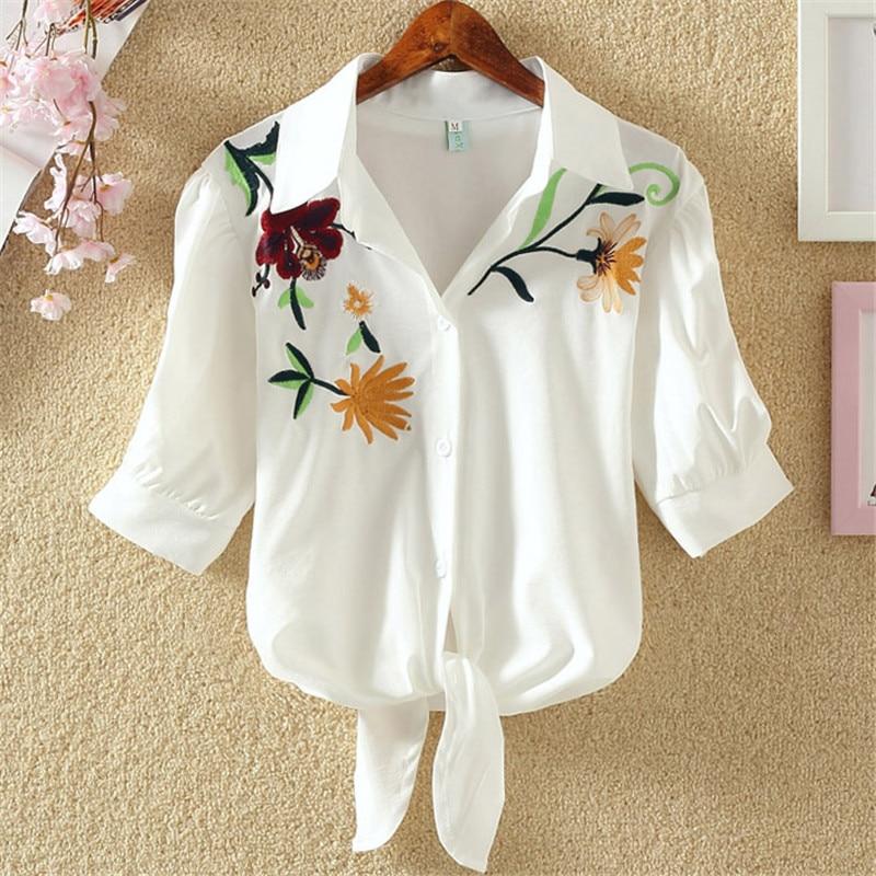 Han edition female shirts with short sleeves shirt to film the new summer dress Korea fan  loose shirt joker students