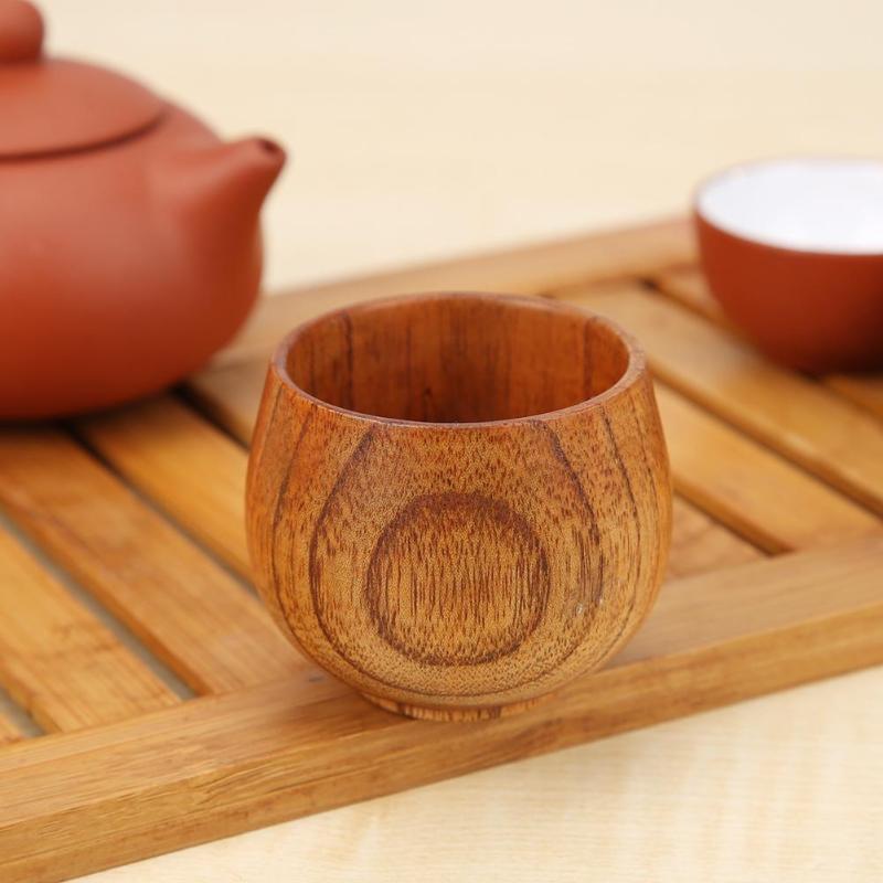 Green Tea Cup Natural Jujube Wood Cup Handmade Natural Wooden Breakfast Drinkware Green Tea Cup