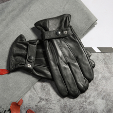 New 2019 Winter Genuine Leather Warm Gloves Men Sheep Mitts Goat Driving for Mens Outdoor Classic Gants