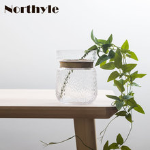 Golden neck theme glass vase home decoration flowerpot bottle wedding flower terrarium