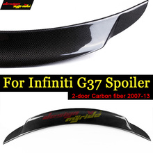 G37 Rear Spoiler Rear Trunk Tail wing Lid Carbon fiber For Infiniti G37 2-Door Sedan Rear Trunk Spoiler Wing Tail Lip 2007-2013 стоимость