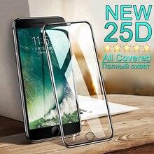 25D Beschermende Glas op Voor iphone 7 6 6 S 8 Plus X XS Ultra dunne full cover Glas Voor iphone 7 screen protector Gehard glas