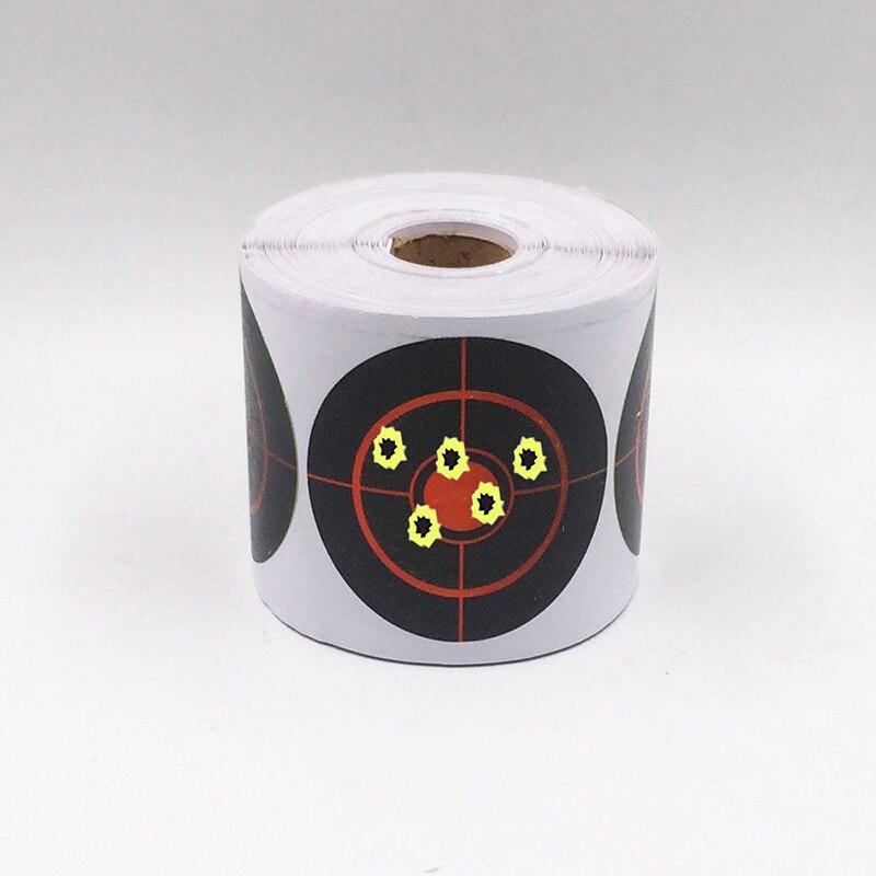 250pcs/Roll Shooting Adhesive Targets Splatter Reactive Target/Sticker 7.5cm