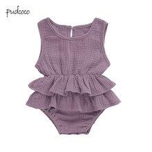 Pudcoco/Новинка; брендовая Милая Одежда для новорожденных девочек; боди-пачка без рукавов; От 0 до 2 лет