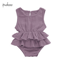7356dba7989 Pudcoco New Brand Cute Newborn Kids Baby Girls Clothes Sleeveless Tutu  Bodysuit Outfit 0-2Y · 7 Colors Available