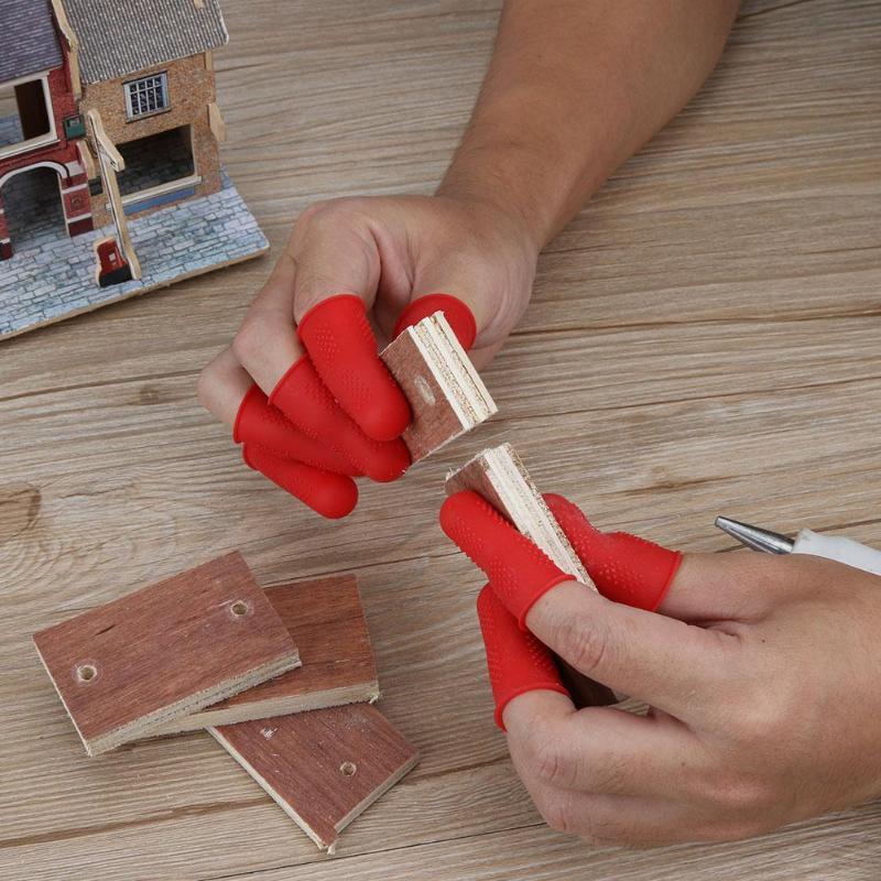 3/5pcs Silicone Finger Protector Finger Caps For High Temperature Resistant Anti-slip Hot Glue Gun Finger Caps Finger Cover