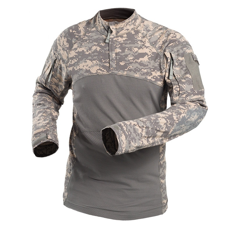 Outdoor Army Shirt Acu Camo Military Long Sleeve Tactical T Shirt Camouflage Quick Dry Men Hiking Clothing Hunting Shirts