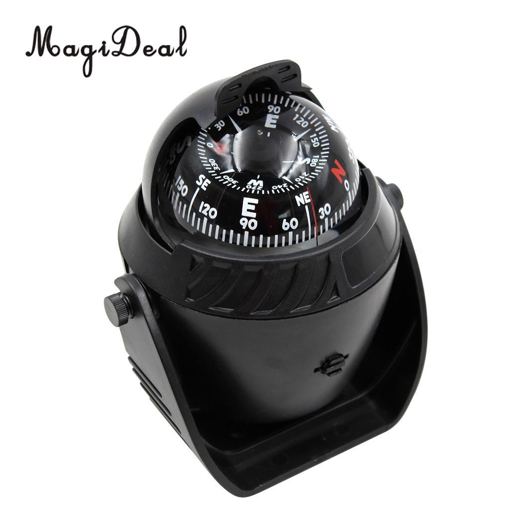 Marine Navigation Compass Adjustable Digital Boat Car Dashboard Compass with Mount Holder