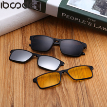 b5416902a8 Iboode lunettes de Lecture Bifocales Polarisées Lunettes de Soleil 3 pièces  Clips Magnétiques Femmes Hommes Presbyte