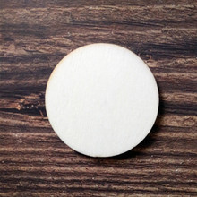 4 inches Blank Unfinished Wood Coaster Round Natural Wooden Coasters DIY Craft Gift