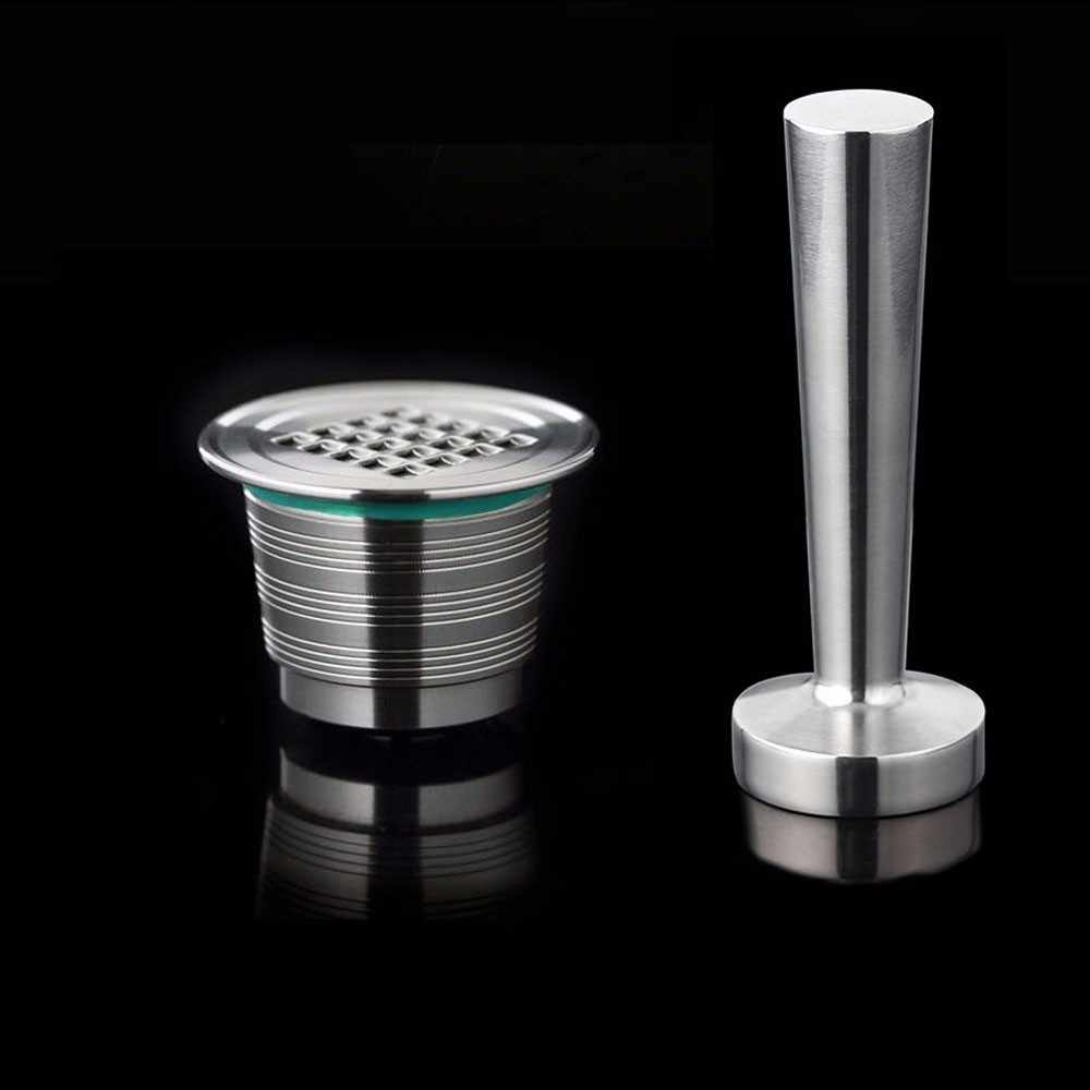 Nespresso Refillable Capsule Reusable Coffee Filter Dripper Steel Nespresso Cafeteira Capsulas De Cafe Recargables Reutilizables