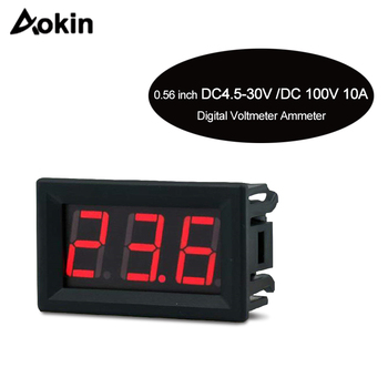 Digital Voltmeter DC 2.5V to 30V Digital Voltmeter Voltage Panel Meter Red/Blue/Green For 6V 12V Electromobile Motorcycle Car image
