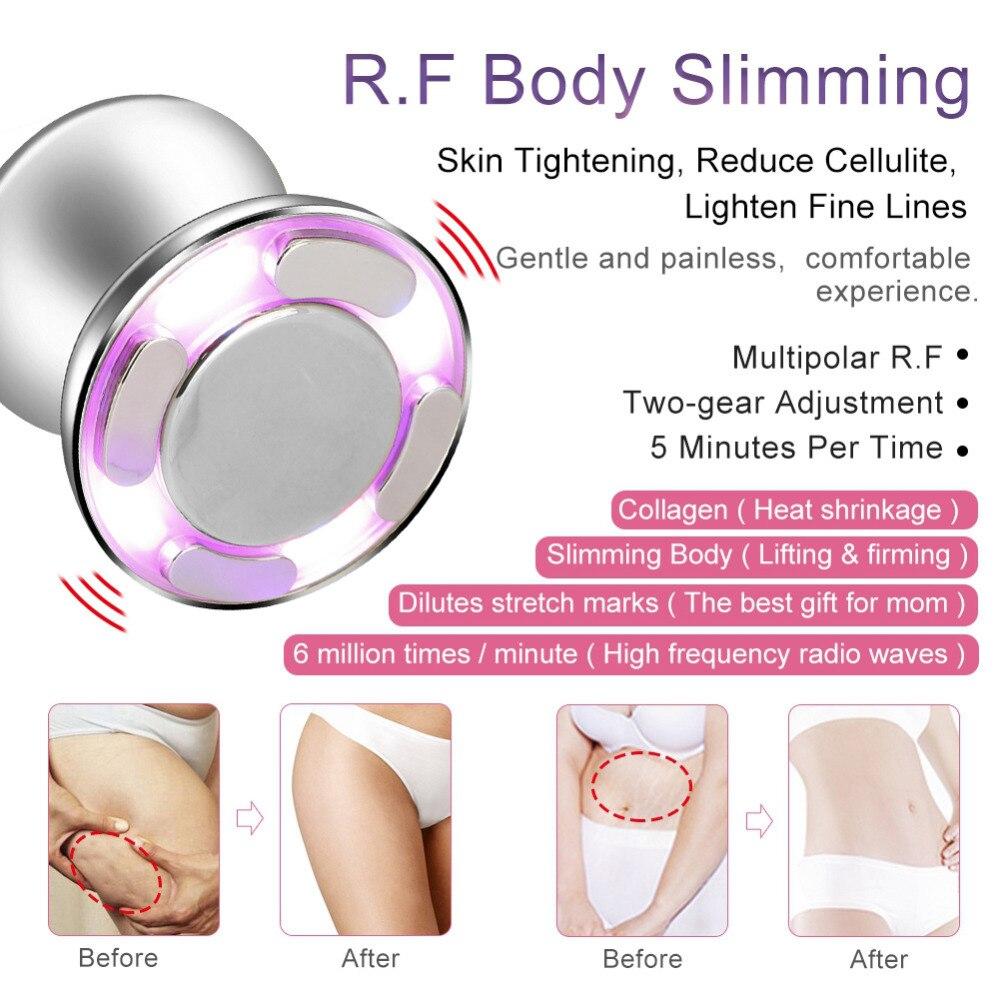 Masajeador adelgazante ultrasónico cavitación RF Dispositivo de grasa doméstica Anti celulitis máquina de belleza para adelgazar la piel-in Herramientas de cuidado de la piel para la cara from Belleza y salud    3