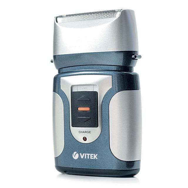 Бритва электрическая VITEK VT-1372(B) (Время работы от аккумулятора 30 мин, триммер, индикатор заряда, 2 независимых плавающих головки, влажное бритьё)