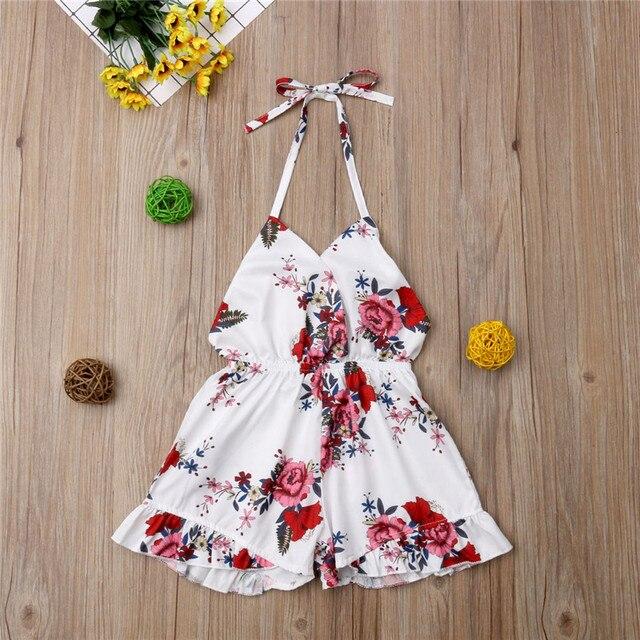 PUDCOCO Thời Trang Toddler Cô Gái Bé Rompers Hoa Sunsuit Cotton Mùa Hè Quần Áo Trẻ Em Ra Sunsuit Trang Phục 1-6 T
