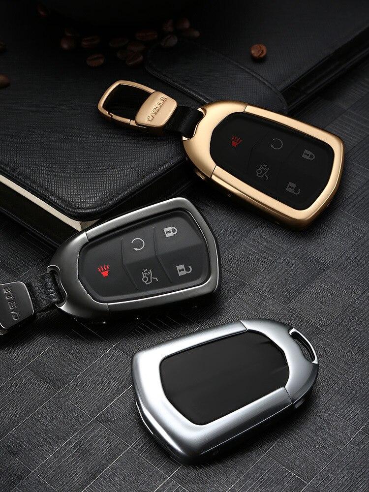 1pcs Aluminum Alloy Auto Key Shell Holder Car Accessories Remote Key Case Cover For Cadillac Ats-l Ct6 Cts Xts Xt5 Srx Escalade