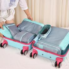 Купить с кэшбэком 6pcs/set Packing Cube Travel Bag System Fashion Double Zipper Waterproof  Men and Women Luggage Travel Bags packing cubes