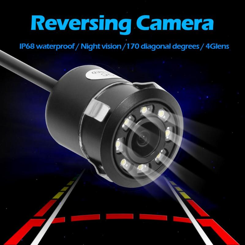 Dynamic Trajectory Tracks HD Car Rear View Camera IP68 Waterproof IR Night Vision Reversing 170 Degrees Angle Parking Camera