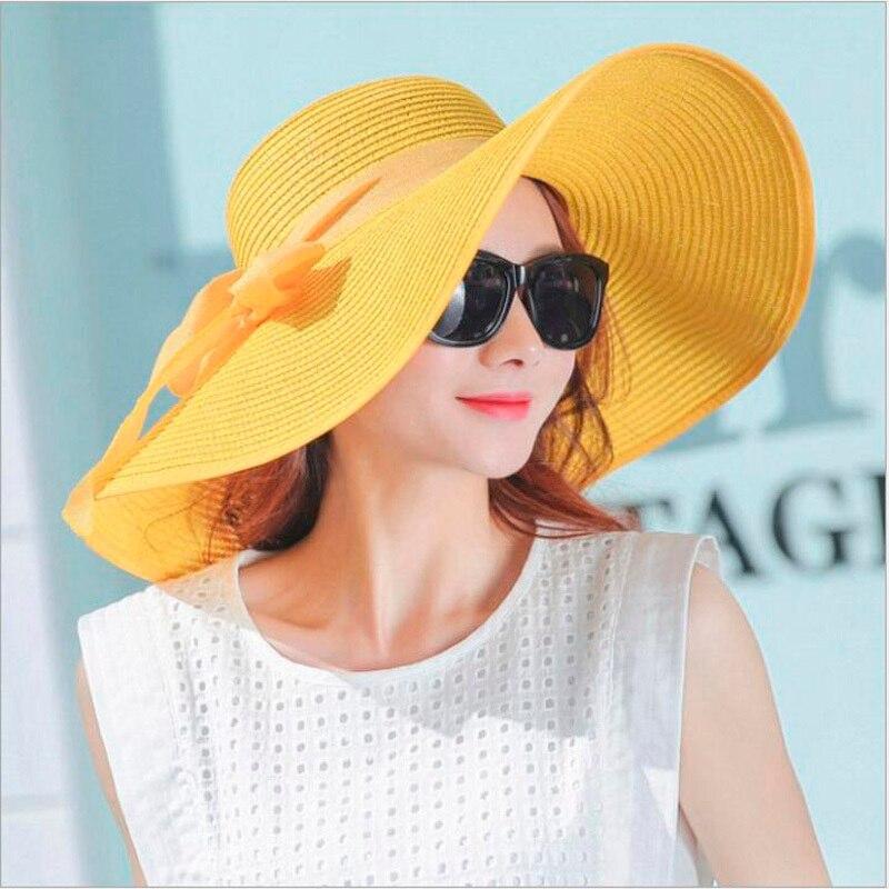 2019 Ladies Summer Hats With Brim New Brand Straw Hats For Women Beach Sun Hats Floppy Sunhat,chapeau Femme,chapeu De Praia
